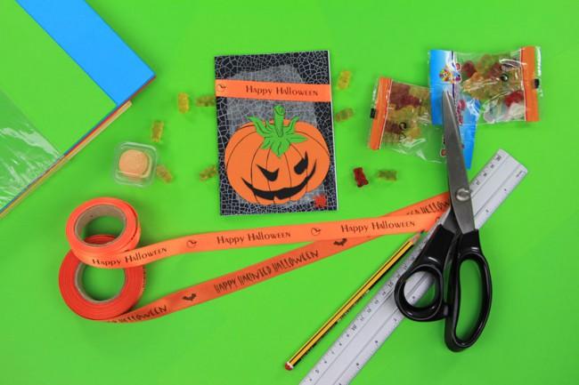 Gratis Anleitung Halloween Karte basteln
