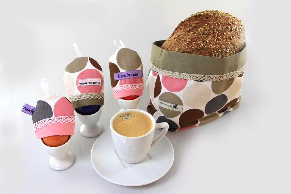 Gratis Anleitung: Brotkorb und Eierwärmer zu Ostern nähen
