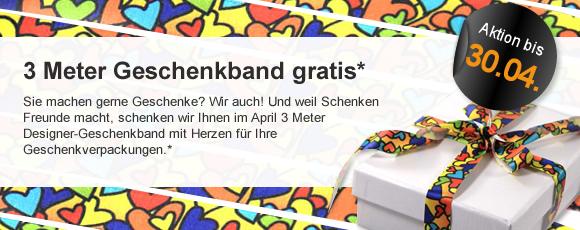 Monatsaktion: 3 m Geschenkband gratis für Sie!