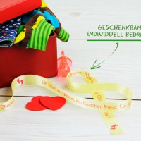Originelle Idee: Geschenkband für Babygeschenke zur Geburt