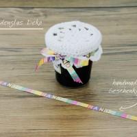 Häkelanleitung: Marmeladenglas dekorieren